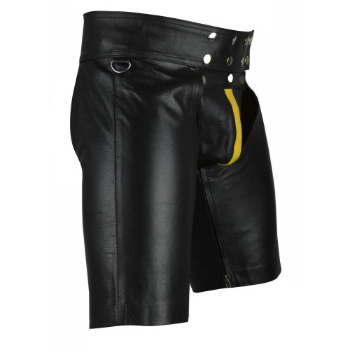 Men/'s Real Cowhide Leather Chaps Shorts //Leather Chaps