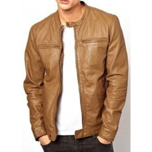 4c5e754d7adf Leather Rider Handmade Men Light Brown Fashion Leather Jacket