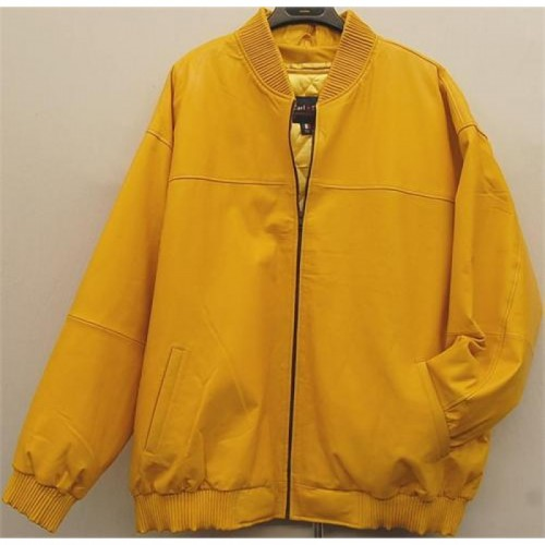 5678bfd12 Leather Rider Men's Yellow Bomber Leather Jacket